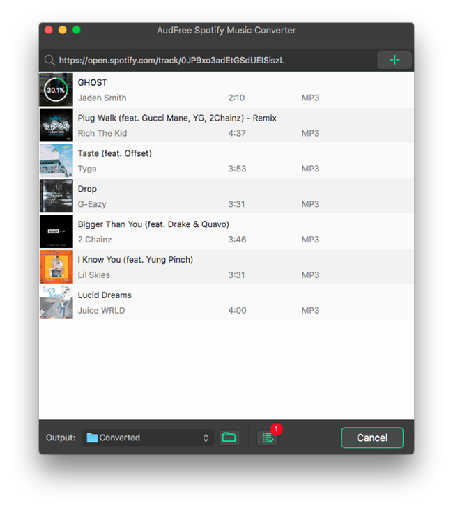 AudFree Spotify Music Converter – Download Spotify Songs as